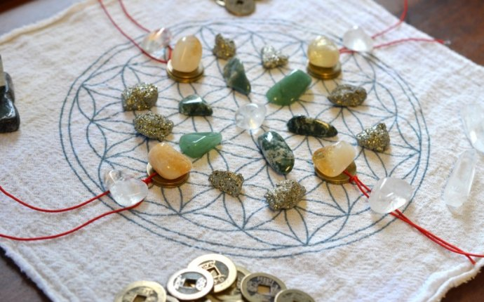 Create a Grid with Feng Shui Crystals for Prosperity
