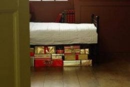 A bed placed under the window and items placed under the bed run counter to good feng shui.