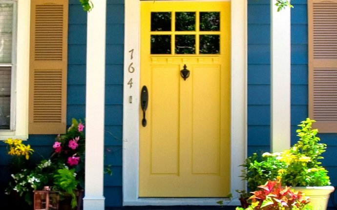 Yellow front door Feng Shui