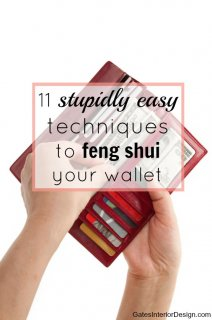 How to feng shui your wallet | GatesInteriorDesign.com